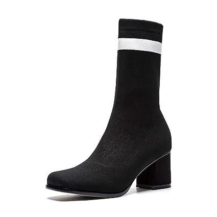 : Women's Booties, Thick Heel Socks Boots Fall
