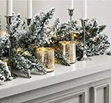 Best LampLust Fireplaces - Pre-lit Flocked Pine Garland with Warm White LEDs Review