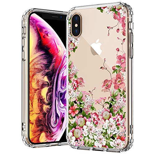- MOSNOVO iPhone Xs MAX Case, Clear iPhone Xs MAX Case,Floral Garden Flower Pattern Printed Clear Design Transparent Plastic Back Case with TPU Bumper Case Cover for iPhone Xs MAX