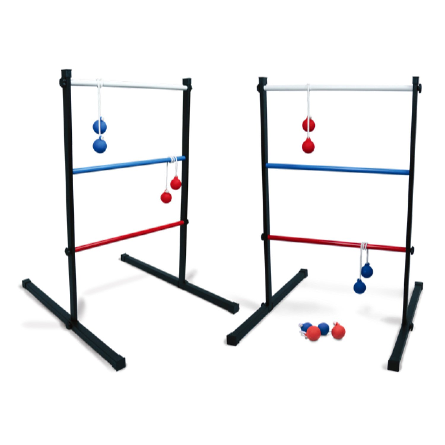 SPORT BEATS DELUXE Indoor/Outdoor Metal Ladder Ball Toss Game Set with 6 Rubber Bolos And Carrying Case,Great For Family Fun by SPORT BEATS