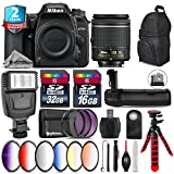 Holiday Saving Bundle for D7500 DSLR Camera + AF-P 18-55mm + Battery Grip + 6PC Graduated Color Filter + 2yr Extended Warranty + 32GB Class 10 Memory + Backpack + 16GB Class - International Version