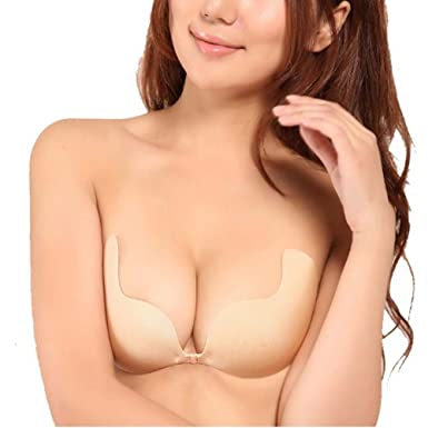 Self-adhesive Front Closure Strapless Invisible Bra at Amazon ...