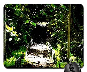Go to a dark place Mouse Pad, Mousepad (Forests Mouse Pad, 10.2 x 8.3 x 0.12 inches)