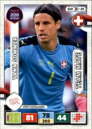 Amazon Com 2017 Road To World Cup 2018 Adrenalyn Xl Soccer Sui01 Yann Sommer Switzerland Official Panini Futbol Trading Card Collectibles Fine Art