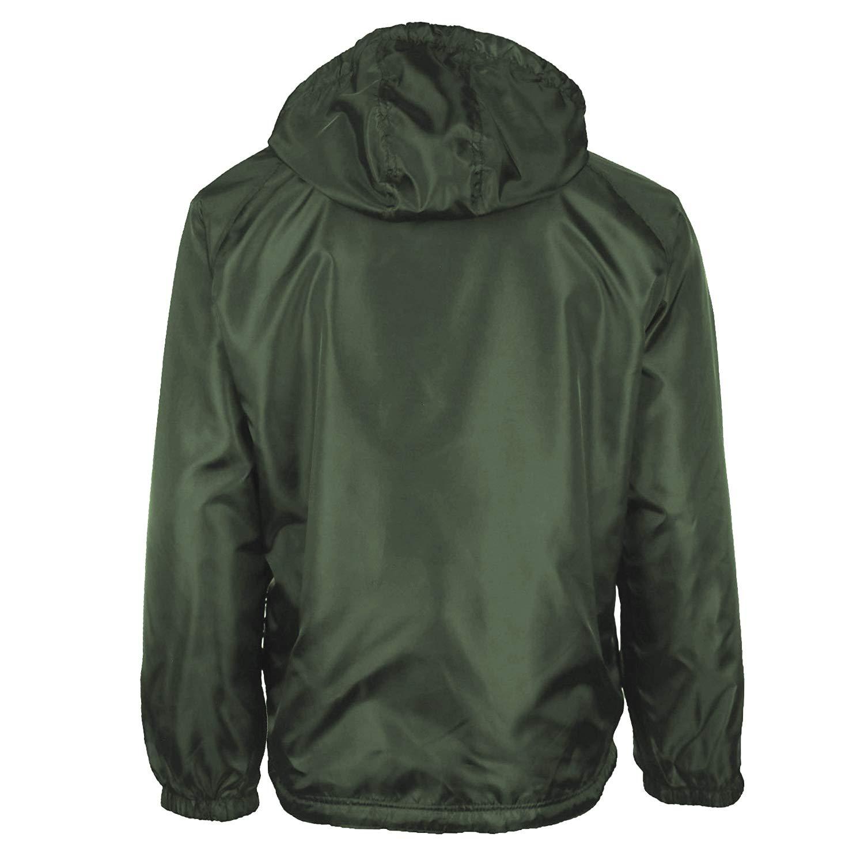 372bbeed9 Renegade Men's Water Resistant Polar Fleece Lined Hooded Rain Jacket at  Amazon Men's Clothing store: