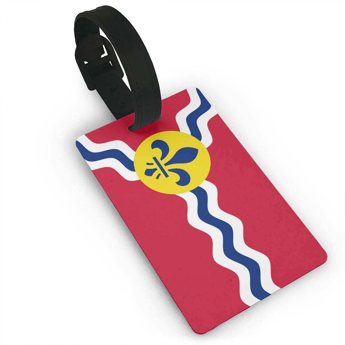 KODW12 セントルイスの旗 ミズーリの荷物タグ トラベルバッグ ラベル スーツケース バッグ タグ 名前 住所カード B07H7YHR6B