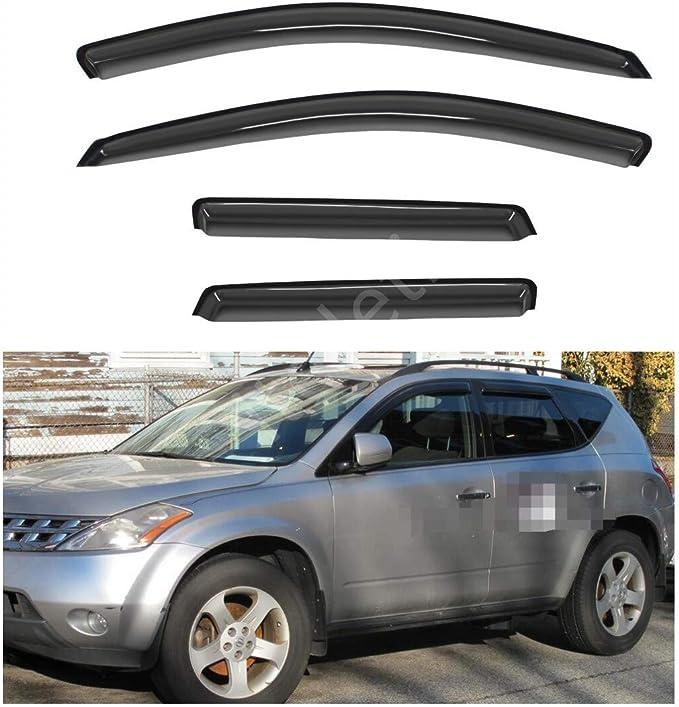 Deebior 4pcs Dark Smoke Outside Mount Style Sun Rain Guard Vent Shade Window Visors Wind Deflectors For 2013-2018 Kuga //2012-2018 Escape 94383