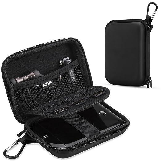 AGPTEK EVA Shockproof Hard Drive Carrying Case,Travel Carrying Case for 2.5-inch Portable External Hard Drive-Transcend 1 TB,2TB, Kingston MLWG2, ...