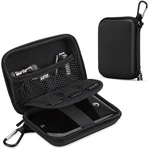 AGPTEK EVA Shockproof Hard Drive Carrying Case,Travel Carrying Case for 2.5-inch Portable External Hard Drive-Transcend 1 TB,2TB, Kingston MLWG2, RAVPower FileHub, MP3 Player, Power Bank, Black