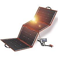 Dokio - Equipo de panel solar de 150 W, monocristalino, portátil, plegable, incluye controlador de carga solar y cable…