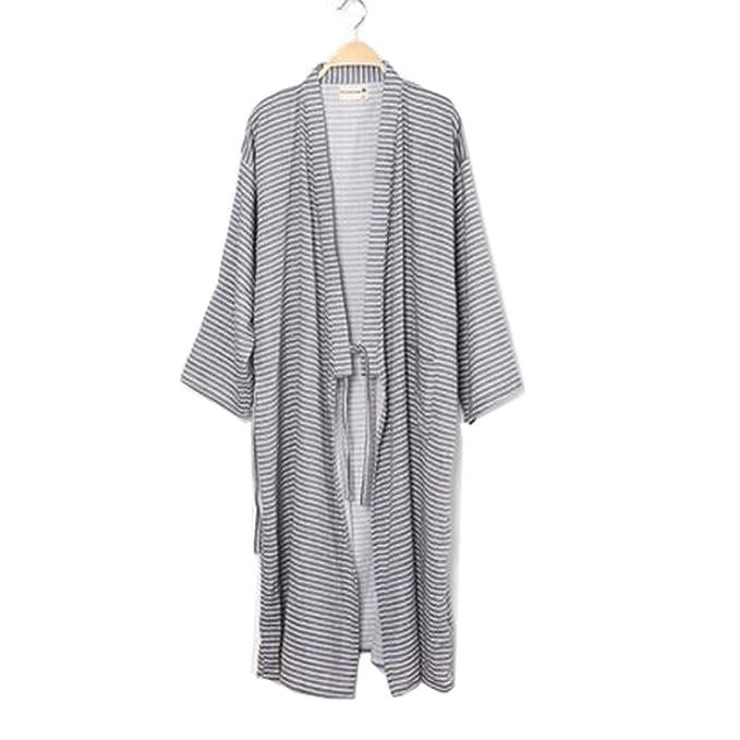 Fancy Pumpkin Trajes de Estilo japonés de los Hombres de algodón Puro Kimono Robe Albornoz Pijamas