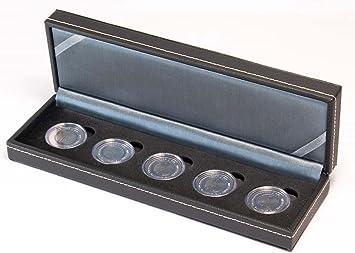 Estuche monedas NERA S para 5 monedas alemanas de 5 Euro [Lindner S2362-5EK], 5 compartimentos cuadrados para monedas o cápsulas con un diámetro de hasta 40 mm: Amazon.es: Juguetes y juegos