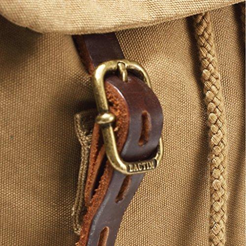AMOS Bolso del recorrido del ocio de los hombres del bolso de hombro de la lona bolso del alpinismo bolso grande del recorrido del recorrido de la capacidad del bolso de los hombres