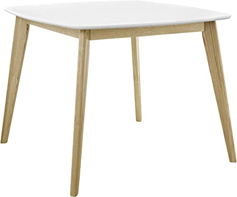 Amazon Com Modway Stratum 40 Mid Century Modern Kitchen And Dining Room Table In White Tables