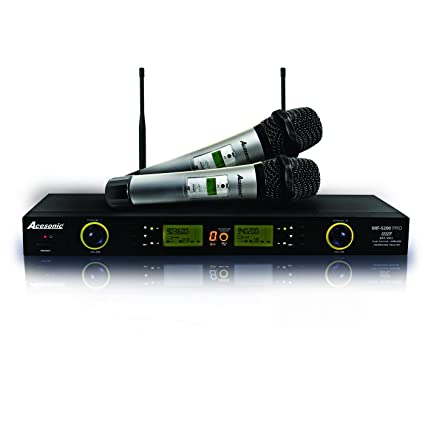 Amazon Acesonic UHF 5200 PRO 900MHz Digital Wireless Microphone System True Diversity IR Sync 100 Channels Musical Instruments