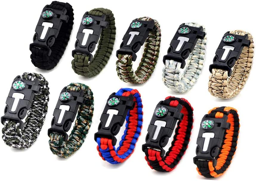 Kissmi 10 Pack Paracord Bracelet