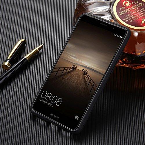 Mobile Phone Cases&decorate HAWEEL Huawei Mate 9 Textura de fibra de carbono cepillada Protector de TPU a prueba de golpes