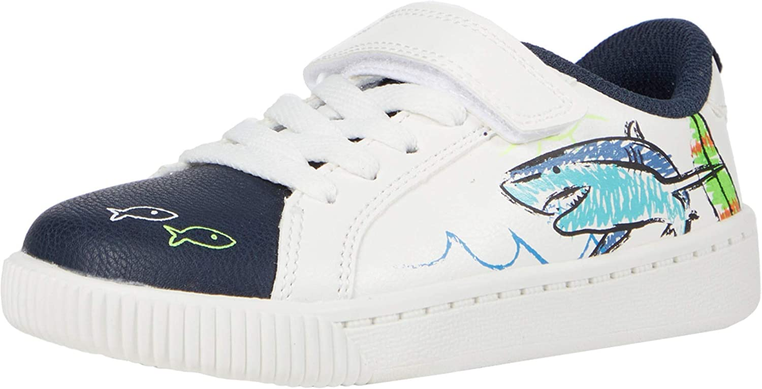 Carter's Kids' Flagger 1 Strap Hook and Loop Slip on Casual Shoe Sneaker