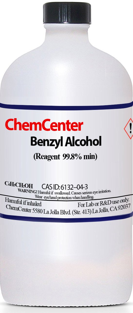 Benzyl Alcohol, Ultra Pure, 99 8+%, 100 ml