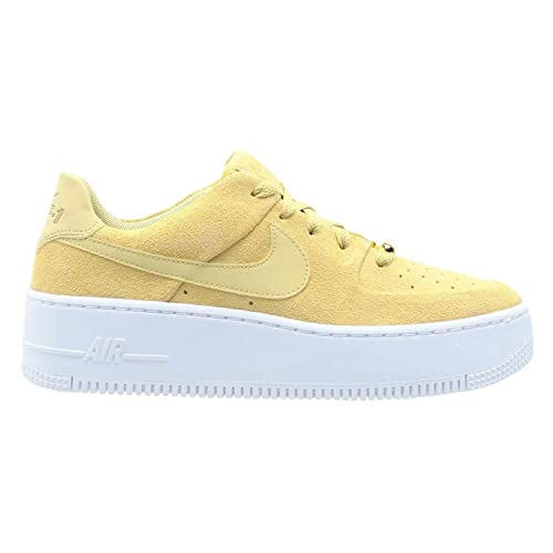 Nike Air Force 1 Low Shoes Suede Yellow on We Heart It