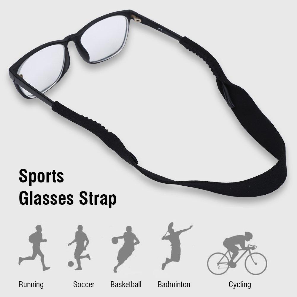 Alomejor Glasses Holder Strap Sports Glasses Elastic Eyeglasses Sunglasses Retainer Sport Straps Holder Strap Spectacles Cord Retainer Lanyard for Eyeglasses