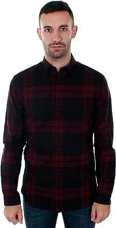 Camisa Jack&Jones Hombre Burdeos 12143528 JPPRAY Shirt LS ...