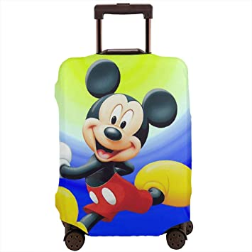 Mickey Mouse Travel Luggage Cover Suitcase Protector Fits 18-32 Inch Luggage Unsex