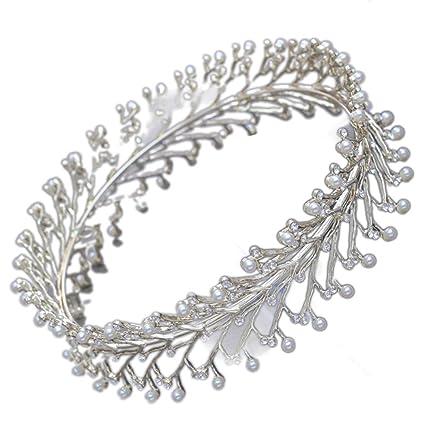 Queen Bride Sposa Matrimonio Corona Imperiale Foratura Flash Perla Corona  Circolare Fasce Per Capelli Abito Da fa05ccc8eead