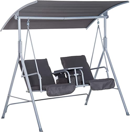 Outsunny 2 Person Porch Covered Swing Outdoor