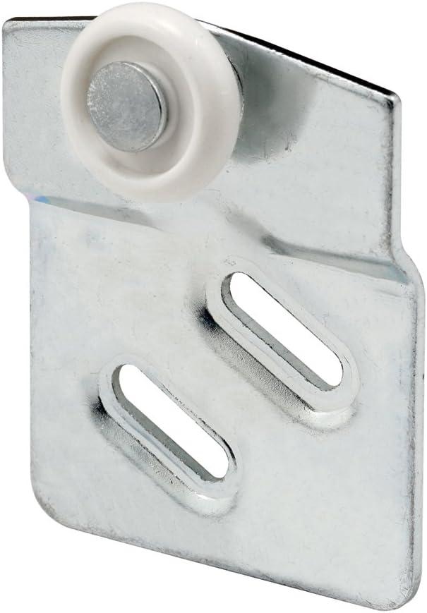 Pack of 2 Slide-Co 161987 Closet Door Roller Front 7//8-Inch Nylon Wheel, 1//4-Inch Offset