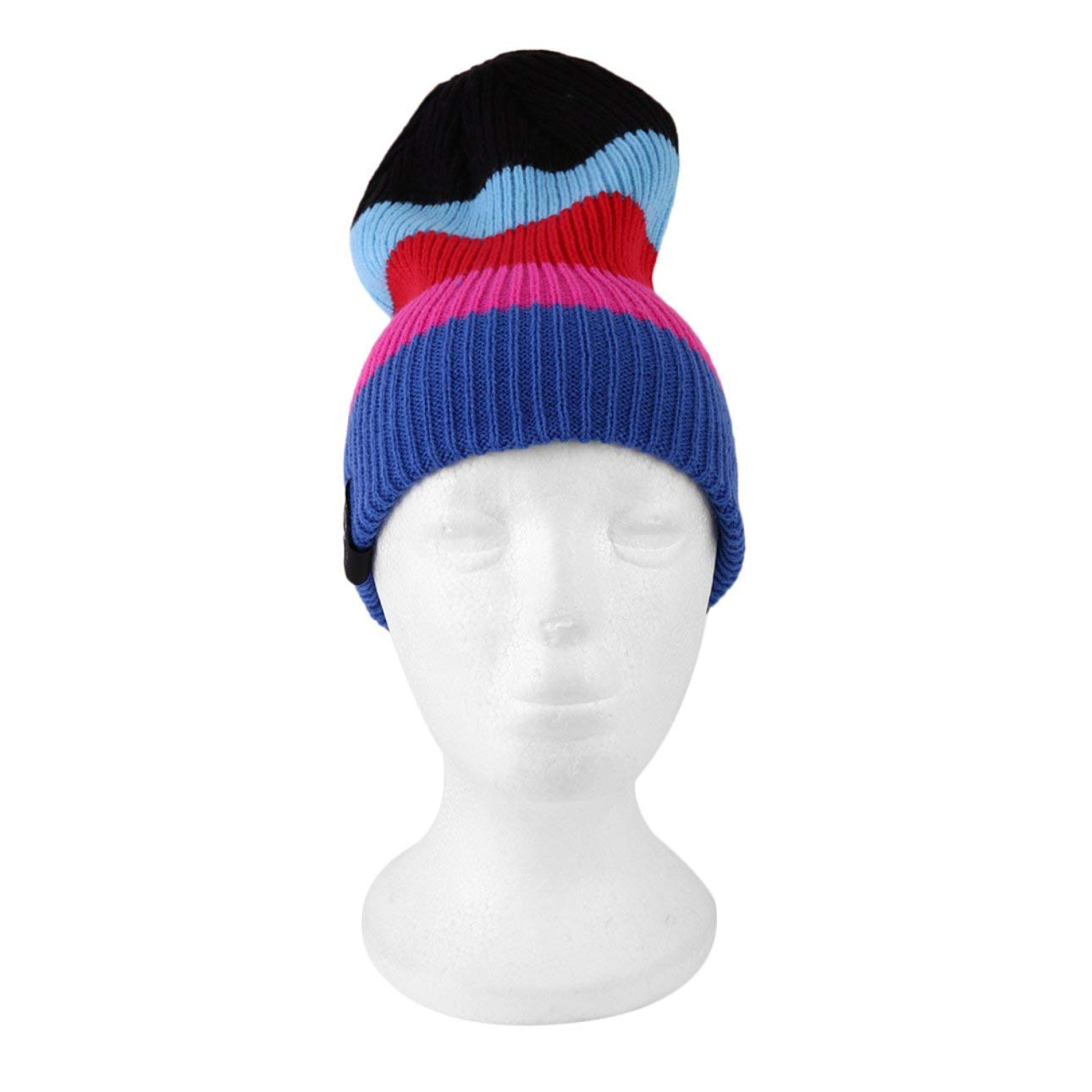 Amazon.com   Multicolored Beanie Hat for Men and Women Winter Warm Hats Knit  Slouchy Thick Skull Cap Double Color   Beauty f7fd02db544
