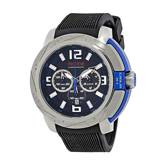 Red Line cronógrafo negro Dial Mens Reloj 309 C-01-black: Amazon.es: Relojes