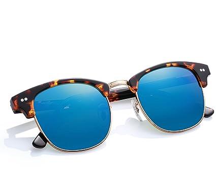 Vintage-Stil Sonnenbrille Metall Halbrahmen Polarisiert Fahrer Fahren Sonnenbrille Frauen Und Männer,D