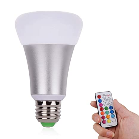 Bombillas LED, RGBW bombillas con mando a distancia por infrarrojos, vida cambia de color