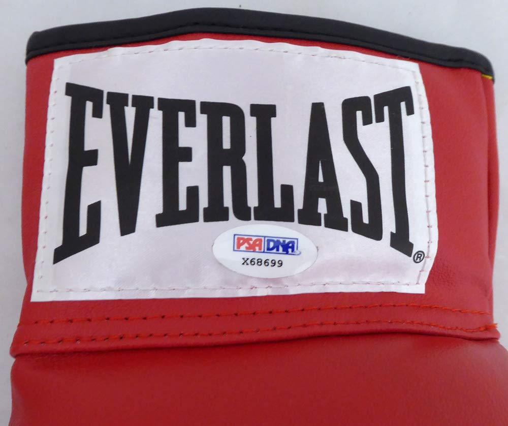 Sugar Ray Leonard & Roberto Duran Autographed Red Everlast Boxing Glove RH PSA/DNA #X68699