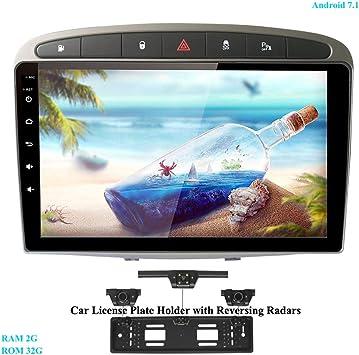 XISEDO In-Dash Android 7.1 Autoradio 9 Pulgadas Radio de Coche RAM 2G ROM 32G Car Radio Estéreo Navegación de Automóvil para Peugeot 308 (2008-2010): Amazon.es: Electrónica