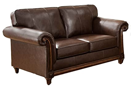 Simmons Upholstery 8001 02 San Diego Coffee Bonded Leather Loveseat