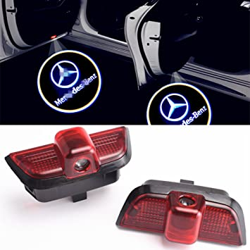 ZTMYZFSL 2 Pcs Car Logo Projection LED Projector Door ghost Shadow Light Welcome Lamp Light For blue W204