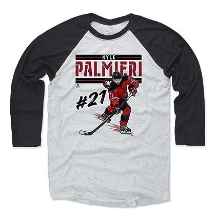 7be537c44c2 Amazon.com : 500 LEVEL Kyle Palmieri Shirt - New Jersey Hockey ...