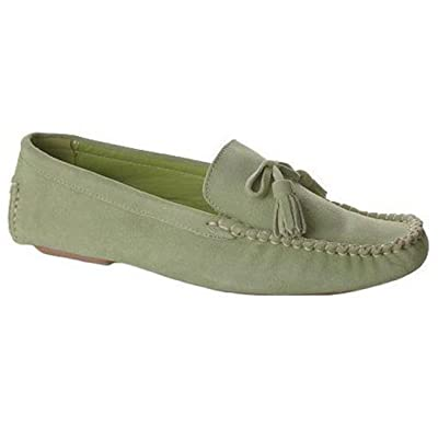 Amazon.com | Casual Barn Women's Casual Stylish Leather and Suede Loafer Moccasins Slipper Shoe | Loafers & Slip-Ons