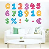 StickMe 'Colorful Number with Sign Fun Learning Kids Preschool Education Wall Sticker' -SM514 (PVC Vinyl - 80cm X 50 cm)