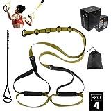 O RLY Entrenamiento en Suspensión Trainer Bodyweight Fitness Resistance Straps Trainer Ejercicio (P3 Pro 4) Verde Militar