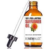 SAFFLOWER SEED OIL FACE MOISTURIZER - 4 oz. Dark Glass Bottle with Dropper | High linoleic facial serum regimen for acne and