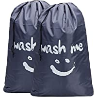 HOMEST 2 Pack Wash Me Large Travel Laundry Bag Drawstring Closure [71cm x 101cm] Machine Washable Dirty Clothes Bag