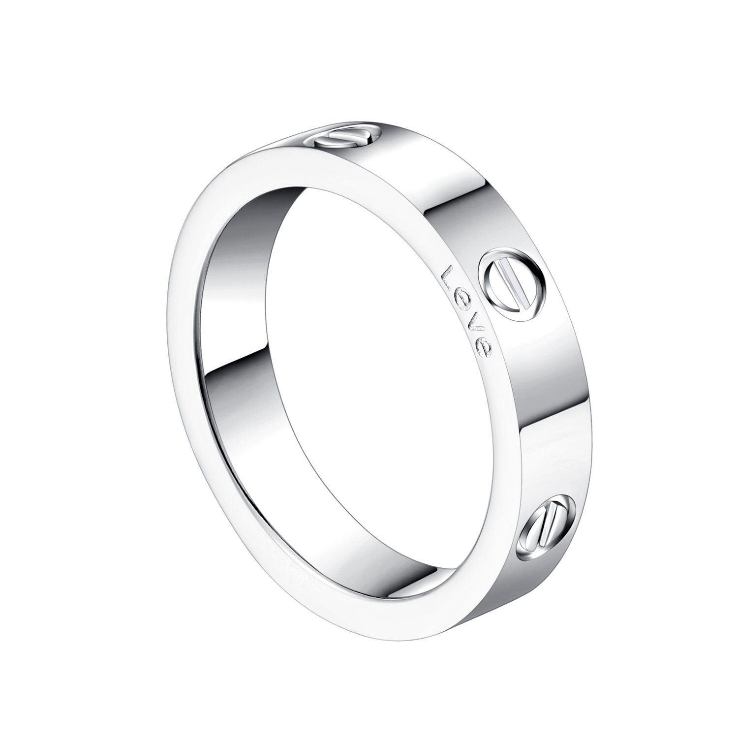 Z.RACLE 4mm Love Rings for women with Screw Design Best Gifts for love Sliver - 7