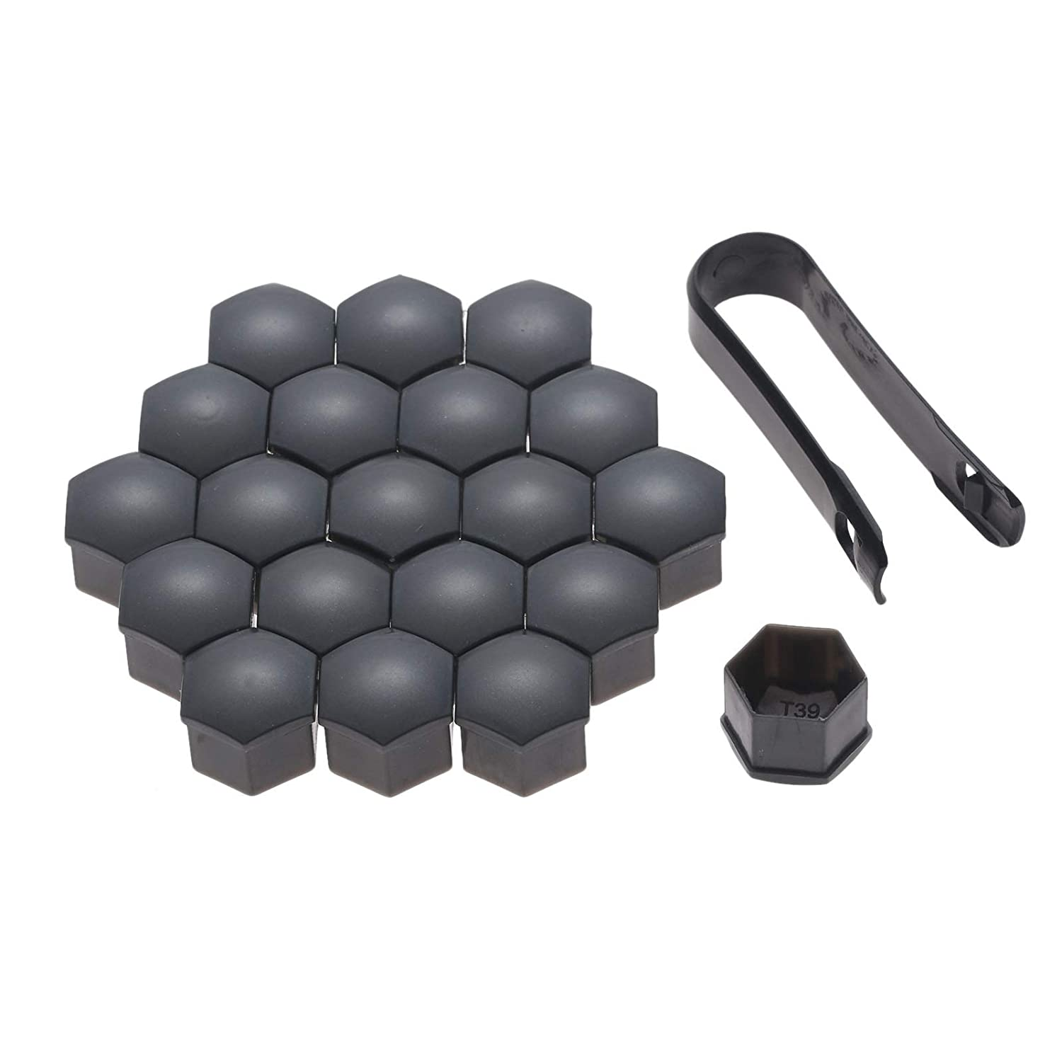Remover Tool Mtsooning 20Pcs Black Car Styling Wheel Nut Protection Auto Hub Screw Bolt Head Cover Tire Protector 21mm Plastic