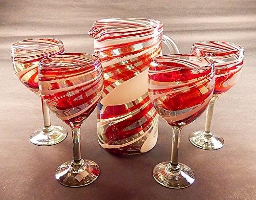 Red Swirl Glass - 6