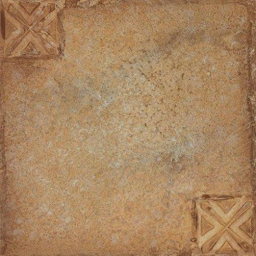 1 Tile Box - Creative Home: Nexus Vinyl Self Stick Tile: 442 Beige Clay with Motif: 1 Box 20 Tiles: Covers 20 Sq. Ft.