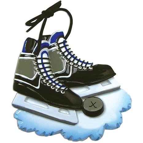 Amazon.com: Personalizado Hockey patines adorno de Navidad ...