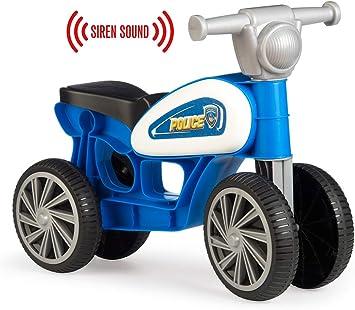 Chicos Correpasillos con cuatro ruedas y sonido Police, color azul y ...